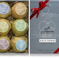 Natural Essential Oils Gift Pack of 6 Bath Bombs