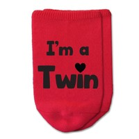 I'm a Twin - No Show Socks