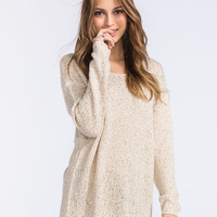 Rvca Star Sand Womens Sweater Off White  In Sizes
