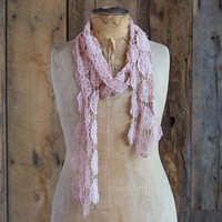 Scarves  &  Headbands:  Light  Pink  Bohemian  Scarf/Belt/Headwrap  From  Natural  Life