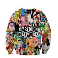 Cartoon Network crewneck sweatshirt All Over Style Print