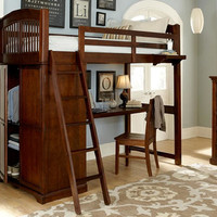 James Place Twin Size Locker Loft Bed