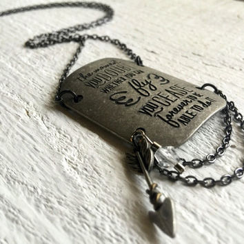 Silver Pendant Necklace Inspired by Peter Pan
