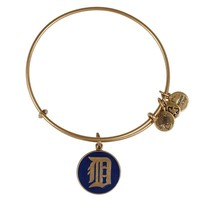 Alex and Ani Navy Detroit Tigers™ Charm Bangle - Russian Gold