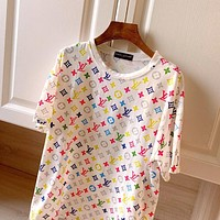 Louis Vuitton LV fashion casual full print high-end light luxury short-sleeved t-shirt