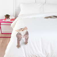 Flat Cat Duvet Cover