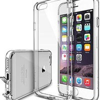 iPhone 6s Plus Case, Ringke [Fusion] Clear PC Back TPU Bumper w/ Screen Protector [Drop Protection/Shock Absorption Technology][Attached Dust Cap] For Apple iPhone 6s Plus / 6 Plus - Clear