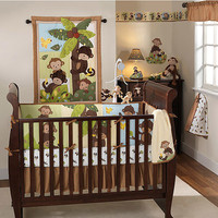 Walmart: Bedtime Originals by Lambs & Ivy - Curly Tails 4pc Crib Bedding Set