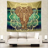 Indian Style Tapestry Elephant Printed ~Wall Hanging Rectangle Decorative Tapestries ~