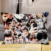 Harry Style Collage One Direction on Rectangle Pillow Cover