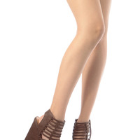Brown Faux Leather Strappy Platform Wedges