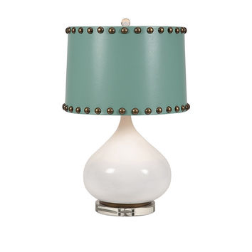 Turquoise and White Table Lamp | Free Shipping