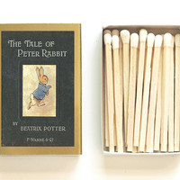 The Tale of Peter Rabbit Matchbox -  Beatrix Potter - Baby Shower Gift - Pair with a Candle - Children's Story - Light an Imaginative Spark