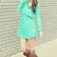 Gotta Get Up And Try Tunic: Mint