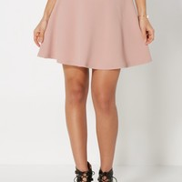 Dusted Pink Textured Skater Skirt | Mini | rue21