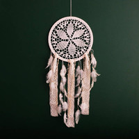 Large Dream Catcher for Wedding or Nursery Decor, Bohemian Decor, White Dream Catcher, White Dreamcatcher, Doily Dreamcatcher, Boho