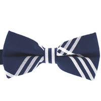 Tok Tok Designs Pre-Tied Bow Tie for Men & Teenagers (B386, 100% Cotton, Navy)