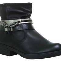 Western Style Anklet Beads Ankle Bootie Vegan Leather Women's