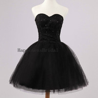 Ball gown Sweetheart  Above the knee Tulle Beading Short  Bridesmaid Dresses Prom Dresses Formal Dresses  Evening Dresses Party Dresses 2013
