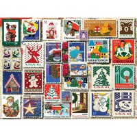 White Mountain Puzzles Christmas Stamps Jigsaw Puzzle - Puzzle Haven