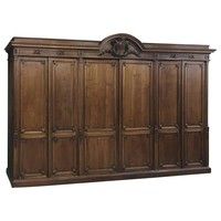 Grand 19th Century French Neoclassical Walnut Six-Door Armoire