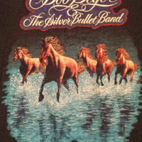 Vintage 1980 BOB SEGER and the Silver Bullet Band tour t-shirt