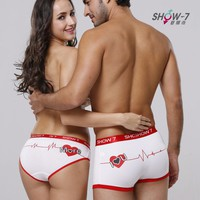 Lover Anniversary gifts Showkiss Couples underwear cotton Mens Boxer Shorts womens print Levres houges boxers white underwear