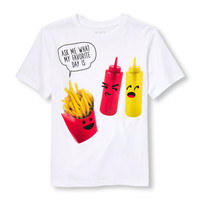 Boys Short Sleeve 'Ask Me What My Favorite Day Is' Fast Food Graphic Tee | The Children's Place