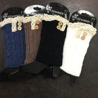 Boot Cuffs with Buttons