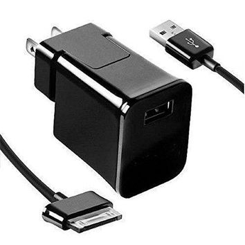 Galaxy tab 2 charger, Travel Charger and Cable for Samsung Galaxy 7 8.9 10.1 inch Tab 2 Tablet, Home Wall Charger + USB Cable, BLACK