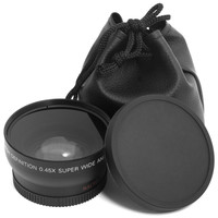 HD 0.45x 52mm Super Wide Angle Lens with Macro Lens and Carry Bag For Nikon D800 D3200 D3100 D5100 D7000