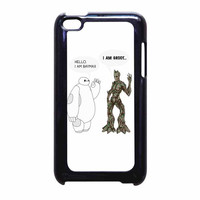 Hello I Baymax I Groot iPod Touch 4th Generation Case