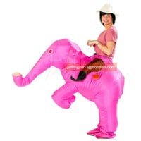 Animal Funny Inflatable Elephant Costume Entertainment Adult Fancy Dress Christmas Halloween Costumes for Women Men