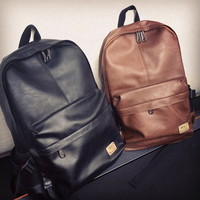 Leather Backpack Travel Bag Daypack Laptop