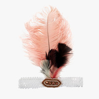 Tutu Du Monde Dancing Diva Feather Headband in Marshmallow - TDM364 - FINAL SALE