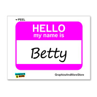 Betty Hello My Name Is Sticker