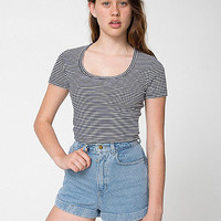 Striped Baby RibCrop T