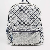 New Look Denim Quilted Backpack