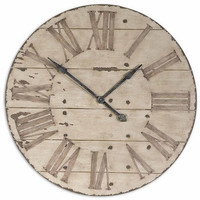 "Uttermost Harrington 36"" Wooden Wall Clock - 06671"