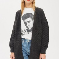 Honeycomb Sleeve Cardigan | Topshop