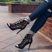 Rumbidzo Brand Women Shoes Summer Women Sandals Casual Peep Toe Shoes  Platform Wedges Sandals Shoes Woman Gladiator Sapatos