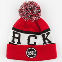 Young & Reckless Patch Palm Beanie Red/White One Size For Men 24643292701