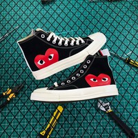 Cdg Play X Converse Chuck Taylor 1970s High Black - Best Online Sale
