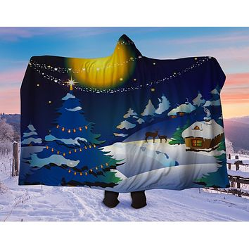 Christmas Night Hooded Blanket