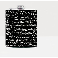 Maths hip flask - Gift for him - Hip flask - Gift for men - Gifts for men - Hip fasks - Flask - Urban - Alcohol - Black -Mathematics-Whiskey