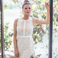 Flaunt And Center Cocktail Dress in White