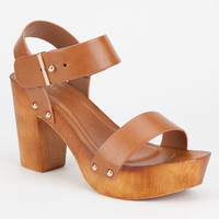 Bamboo Lain Womens Heels Chestnut  In Sizes