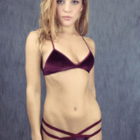 """She Wore Ruby Velvet"" Bralette"