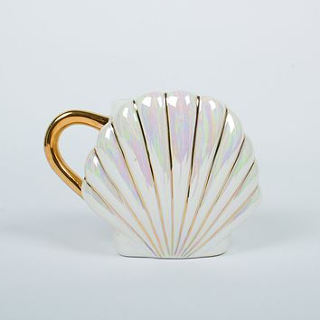8 OAK LANE COFFEE MUG MERMAID SHELL