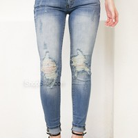 Spring Destroyed Skinny Denim